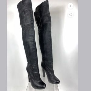 All Saints thigh high leather boots size 38
